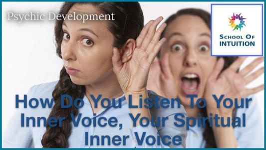 learn to listen to your inner voice