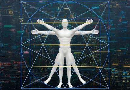 channeled message includes image of vitruvian man