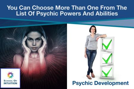 what is included in the list of psychic powers and abilities